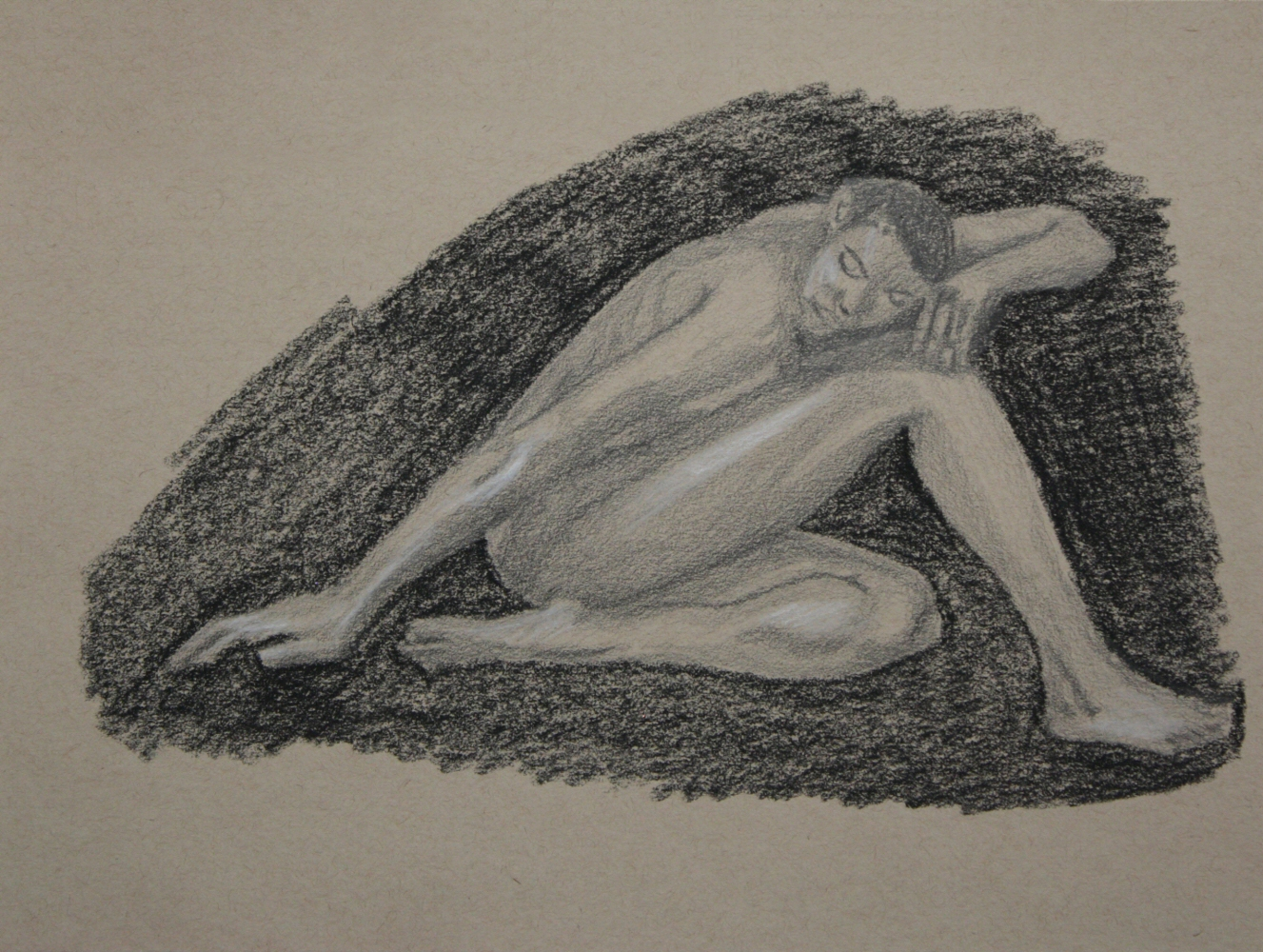 140926 - Day 25a - 30 in 30 Challenge - Graphite & Charcoal on toned paper -  Dave Casey - TheDailyPainter.jpg