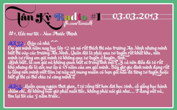 Tân Kỳ Radio Số 1 - Chia sẻ cảm xúc 03/03/2013