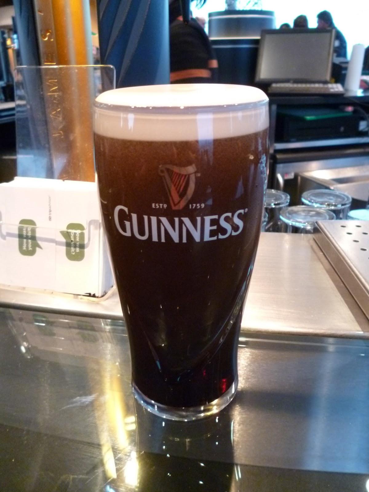 An american monster geek in london ireland dublin the for Guinness beer in ireland