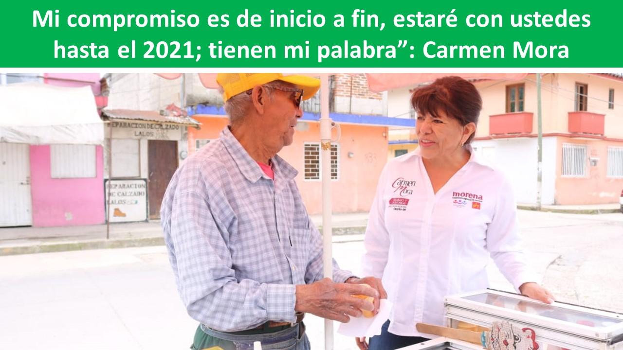 "tienen mi palabra"": Carmen Mora"