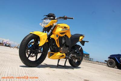 kumpulan modifikasi motor byson warna kuning
