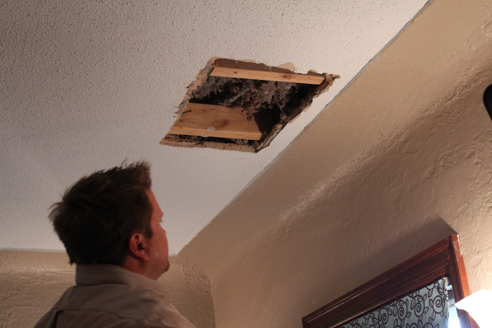 Attractive CEILING HOLE DONE!
