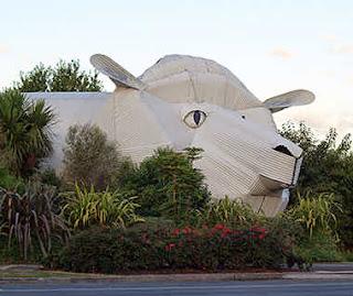 houses buildings look like animals