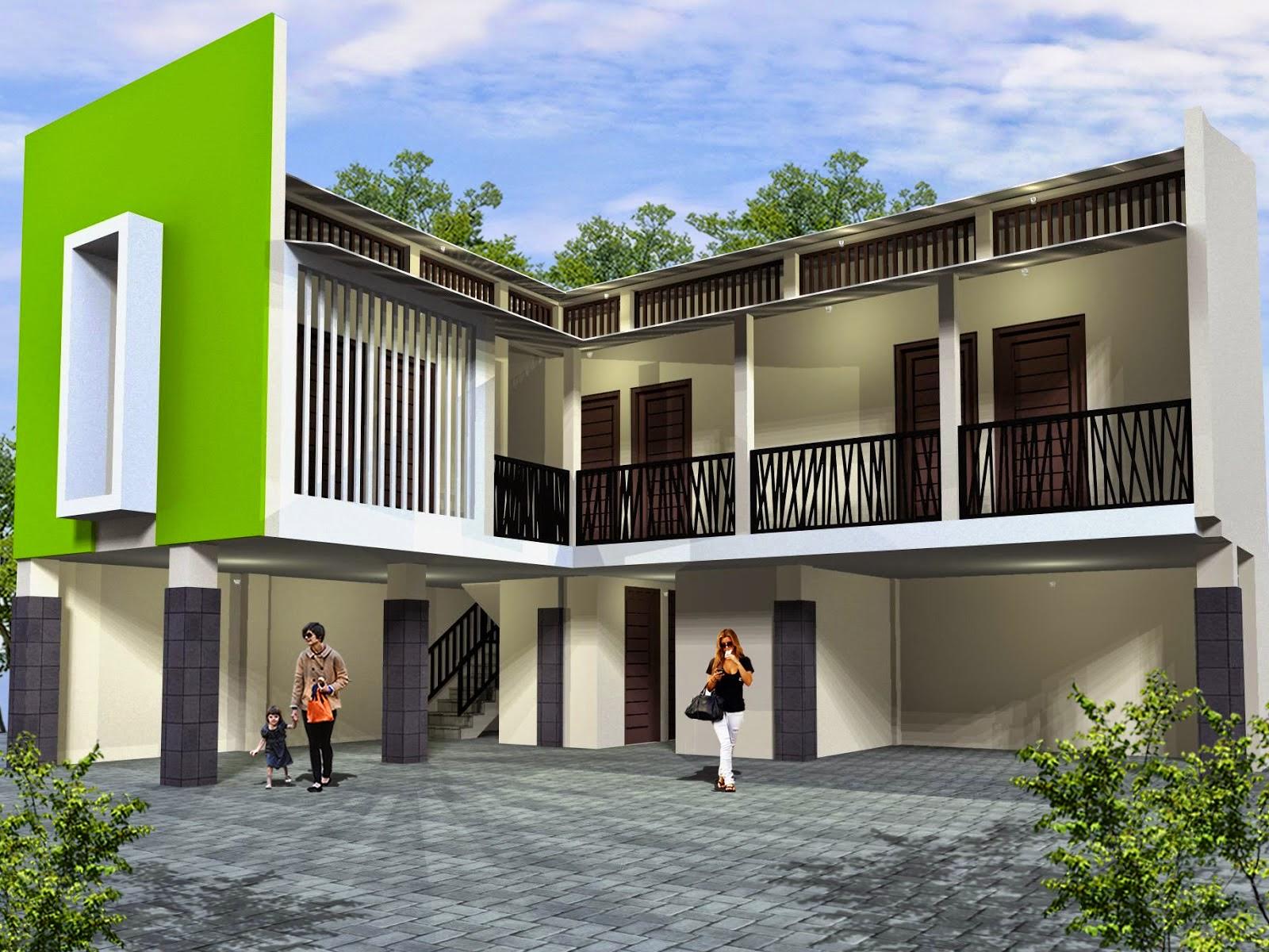 Desain Rumah Kost Minimalis dua Lantai