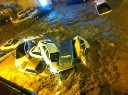 Banjir di Makkah (foto Hidayatullah.com)