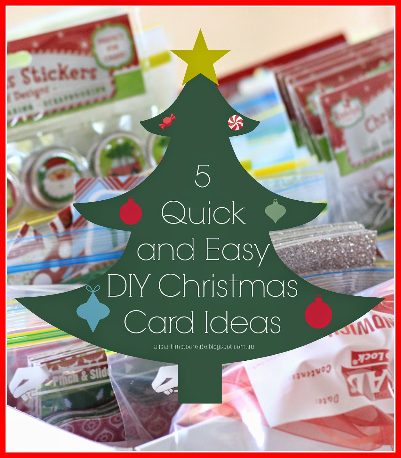 Christmas Card Making Ideas Part - 25: 5 Quick And Easy DIY Christmas Card Ideas