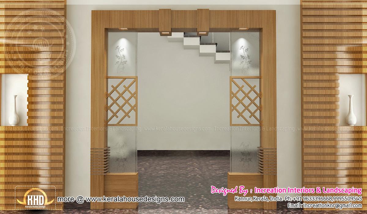 Foyer Plan Kerala : D interiors by increation home kerala plans