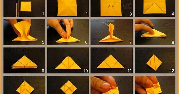 Origami Instructions Pikachu Box Flower Easy