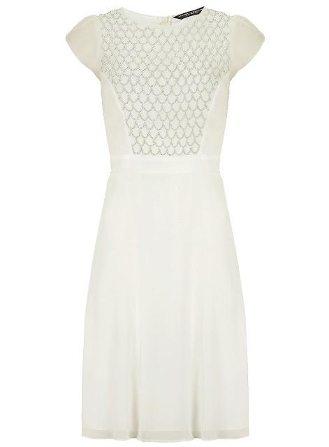 cream embellished dress