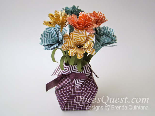 What Better Place To Put Paper Flowers In Than An Origami Vase Ill Show You How Make This Using The Color Designer Series Stack My