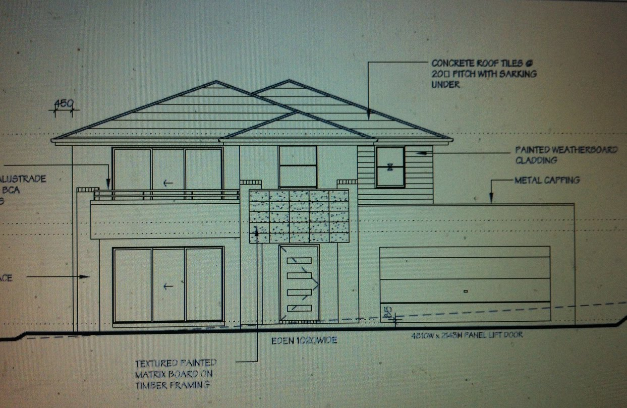 House Window Front Elevation : The house that mat and jen built day check plans