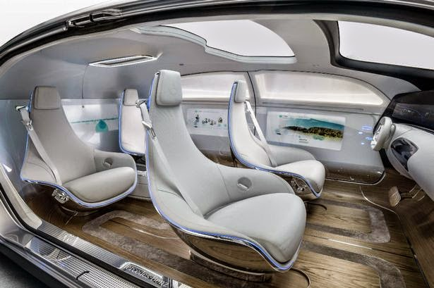 mercedes benz shows off self driving car of the future mono live. Black Bedroom Furniture Sets. Home Design Ideas