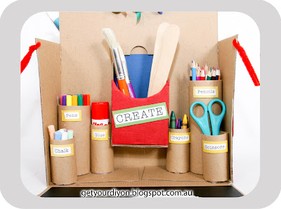 DIY Recycled Activity Box http://getyourdiyon.blogspot.com.au/2012/06/diy-recycled-activity-box.html