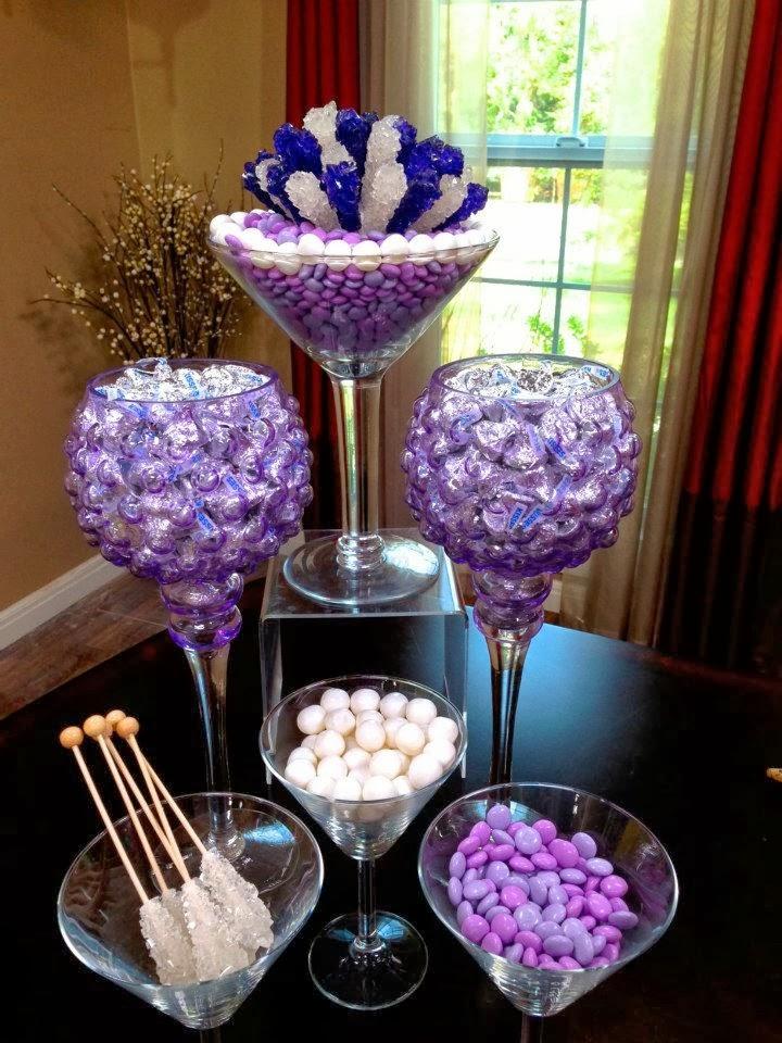 Rock candy centerpieces edible decor more