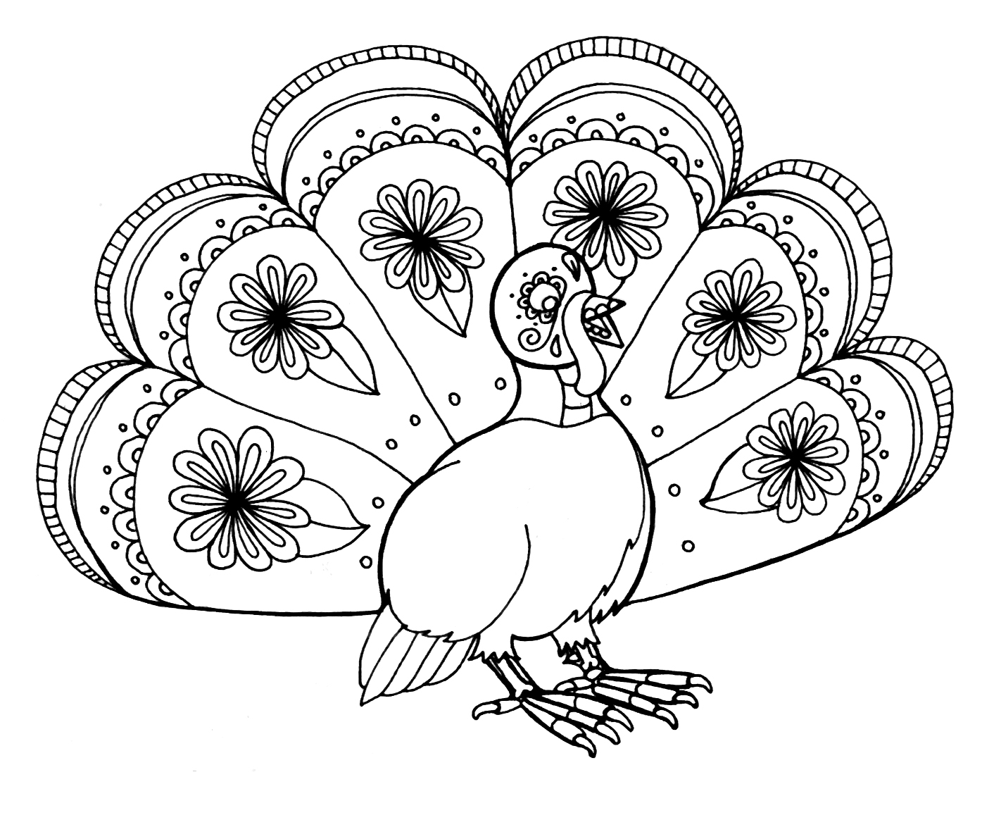 Image Result For Turkey Coloring Page