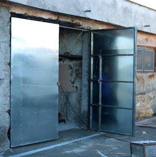 Garage doors hung