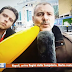 Soccer fan interrupts live transfer deadline day coverage with inflatable banana (Video)
