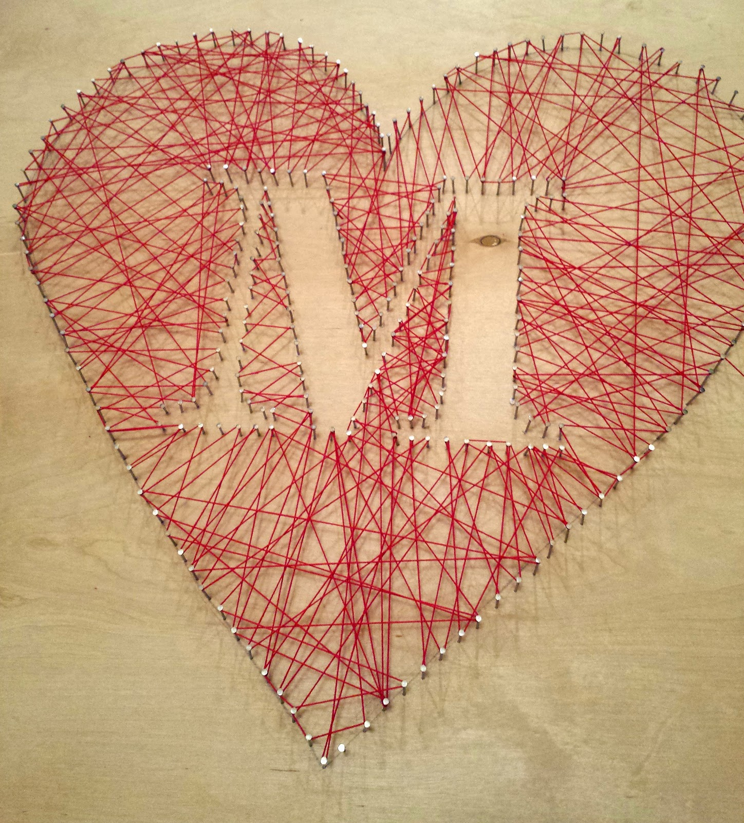 The Adventures Of Mrs Mayfield DIY String Art Heart Tutorial