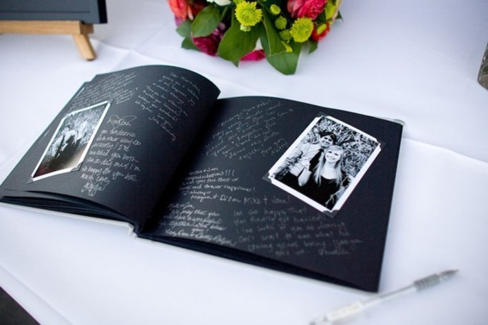 Scrapbook Wedding Guest Book Ideas