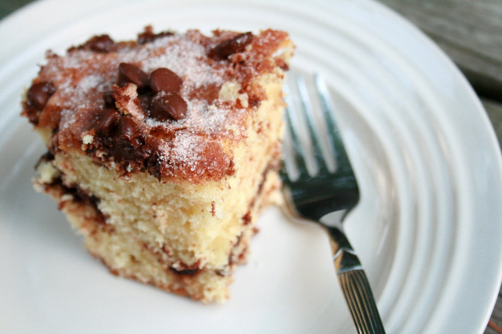 The Creative Place: Food: Chocolate Chip and Sour Cream Coffee Cake