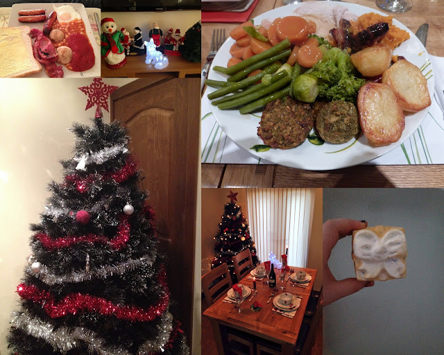 Christmas dinner, Christmas tree, Christmas decorations