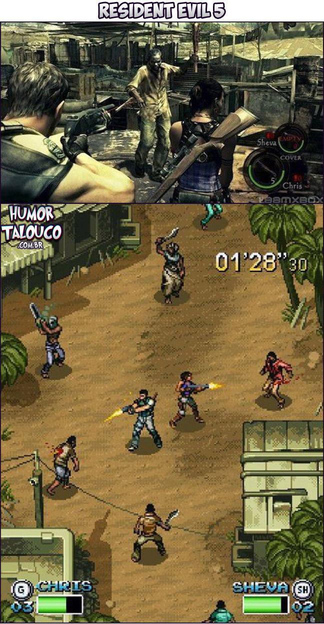 Games Atuais com Gráficos de Super Nintendo - Resident Evil 5
