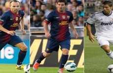 Mejor jugador de Europa 2012 Messi, Cristiano Ronaldo e Iniesta entre los candidatos