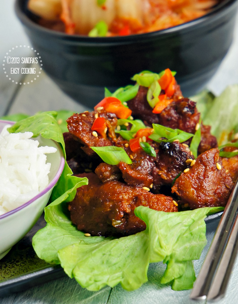 Delicious BBQ (barbecue) Recipe for Spicy Boneless Pork Spareribs
