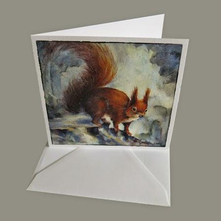 Atelier for Hope Kunstkaart incl. enveloppe, afbeelding schilderij eekhoorn