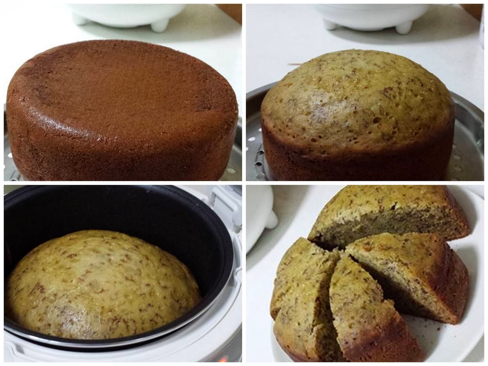 Eggless Banana Walnut Cake In Cooker