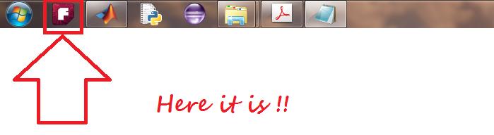 FRITZING under the taskbar, with fritzing logo