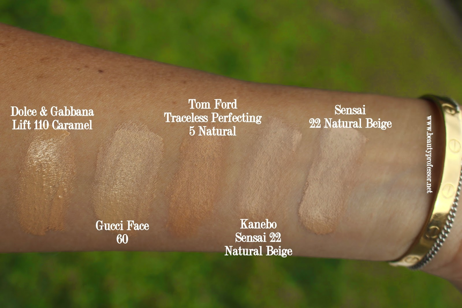 sensai cellular performance cream foundation swatches