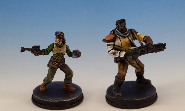 Saska Teft and Biv Bodhrik, Imperial Assault FFG (2015, sculpted by Benjamin Maillet)