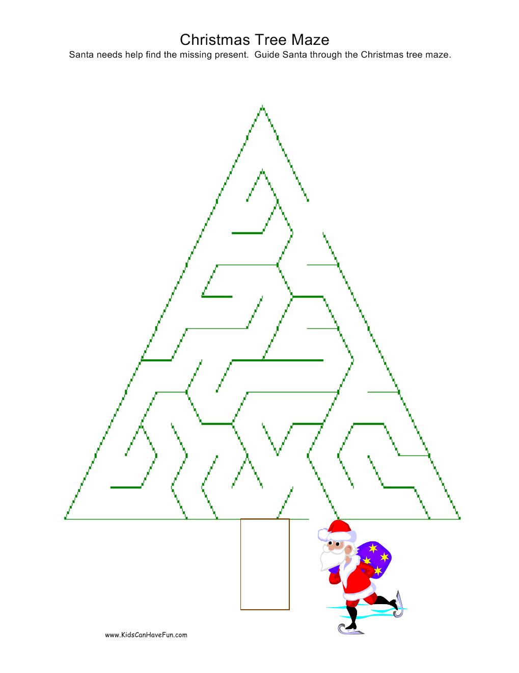 tree mazes printable 2 christmas tree mazes printable 3 christmas tree ...