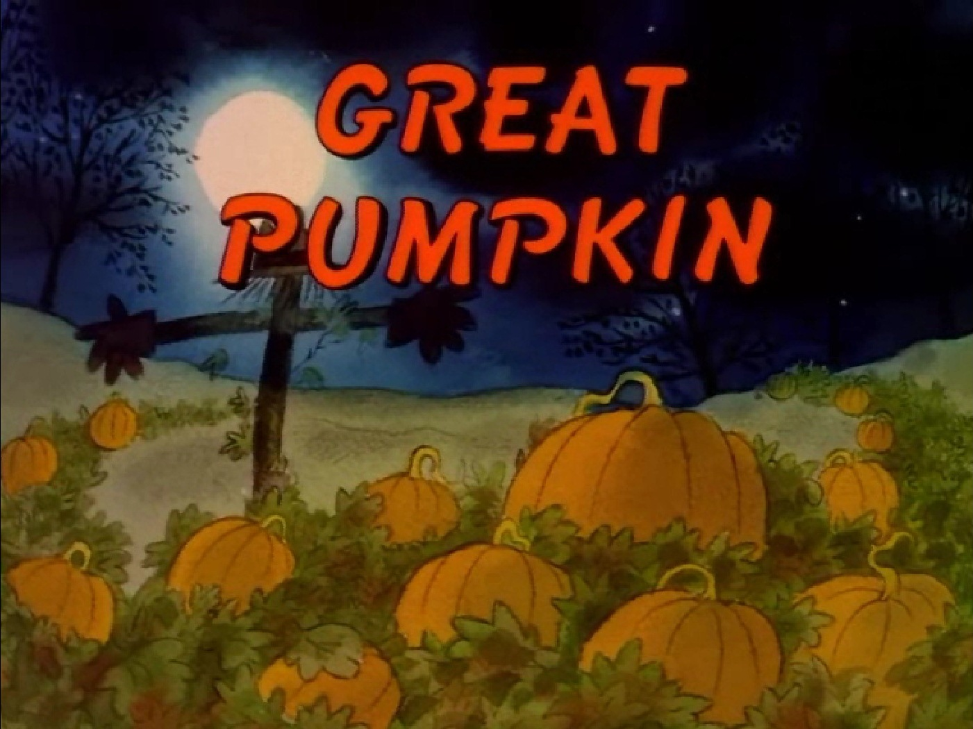 the charlie brown and snoopy show great pumpkin