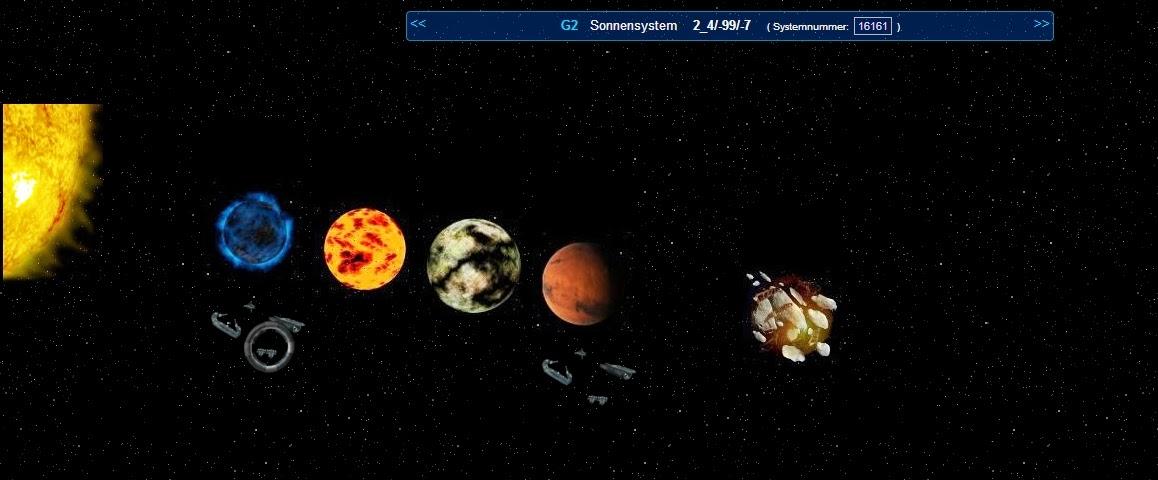 OD Sonnensystem-Ansicht