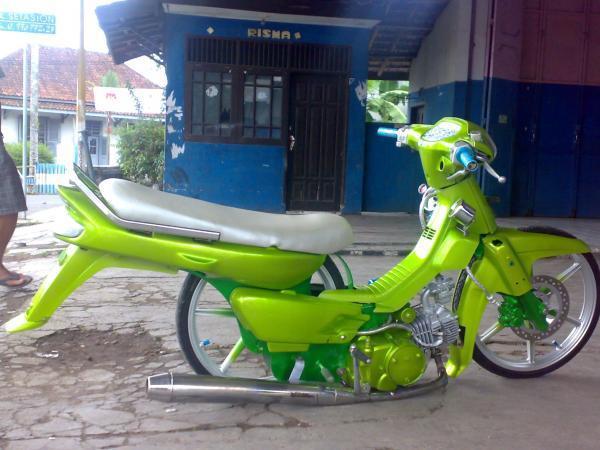 modifikasi motor honda green  paling bagus