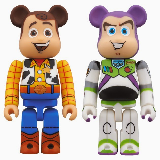 Toy Story 400% Be@rbrick Vinyl Figures by Medicom - Woody & Buzz Lightyear