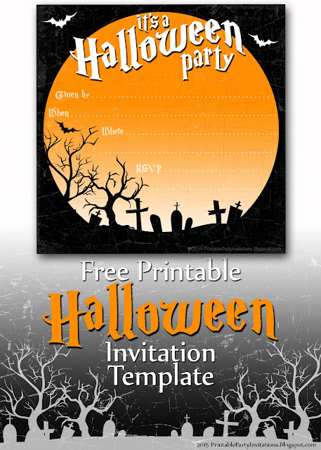 Epic image throughout free halloween invitations printable