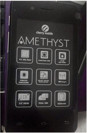 Cherry Mobile Amethyst, Dual Core 3G For Only Php2,299