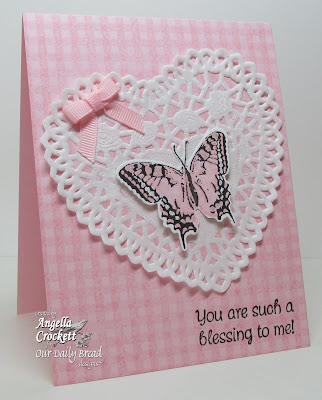 "ODBD ""Gingham Background"", ""Mini Tags 1"", ""Grunge Butterfly and custom die"", Card Designer Angie Crockett"