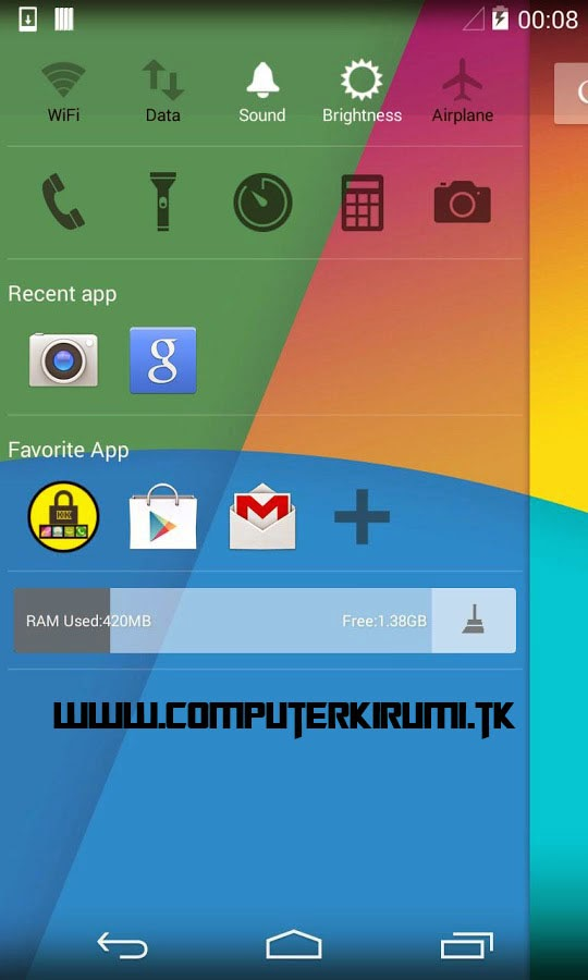 KITKAT LAUNCHER-Best ANDROID LAUNCHER WITH KITKAT THEME-sidebar