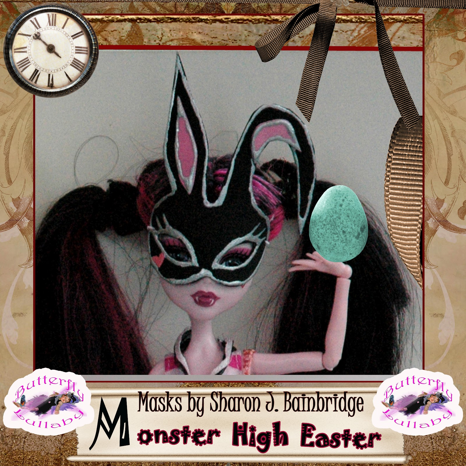Butterfly lullaby sharon j bainbridge monster high easter egg doll masks by sharon j bainbridge - Masque monster high ...