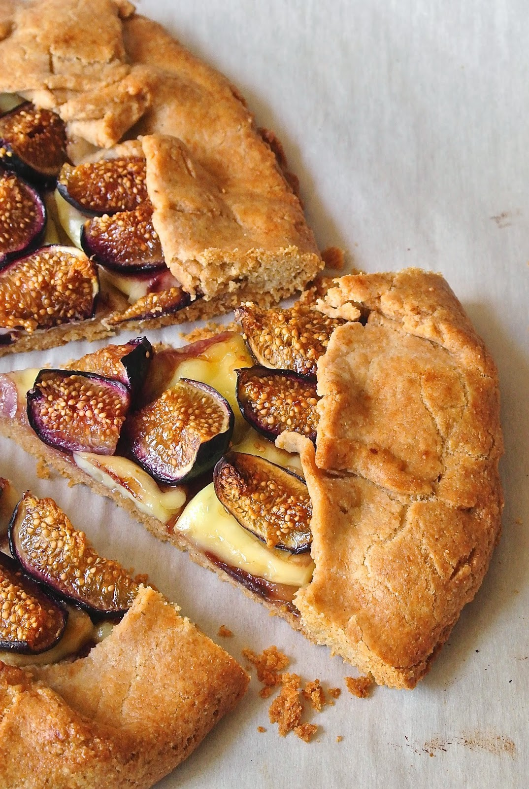 Fig and brie galette