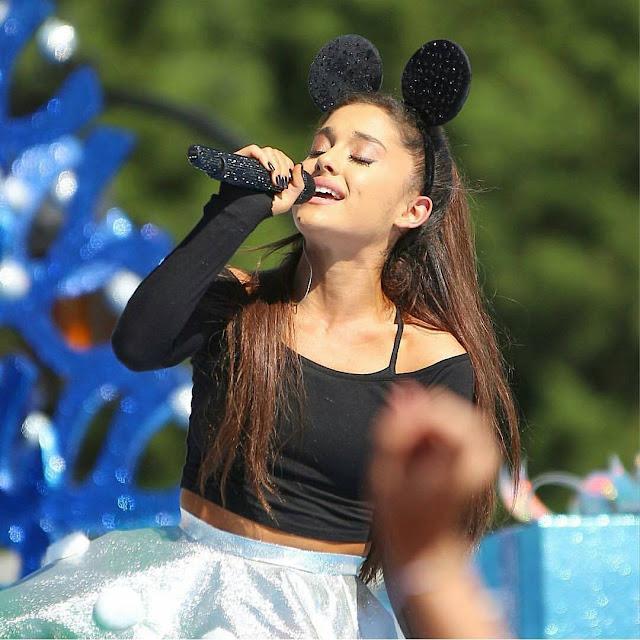 Actress, Singer @ Ariana Grande at the Annual Christmas Day Parade at Walt Disney World on Orlando