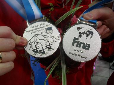 Silver medals - 2011 FINA World Trophy