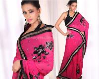 Sanjana, latest, saree, poses