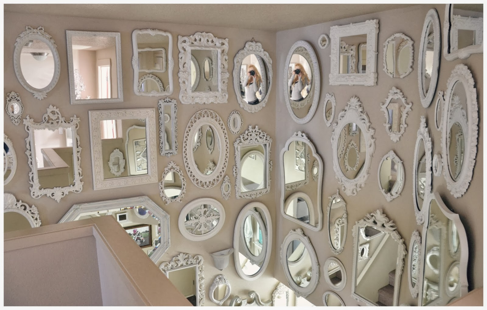 Wall of mirror