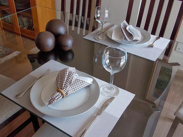 mesa para jantar romântico