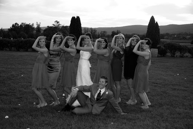 Wedding Party Having Fun Breaux Vineyard| Whysall Photography